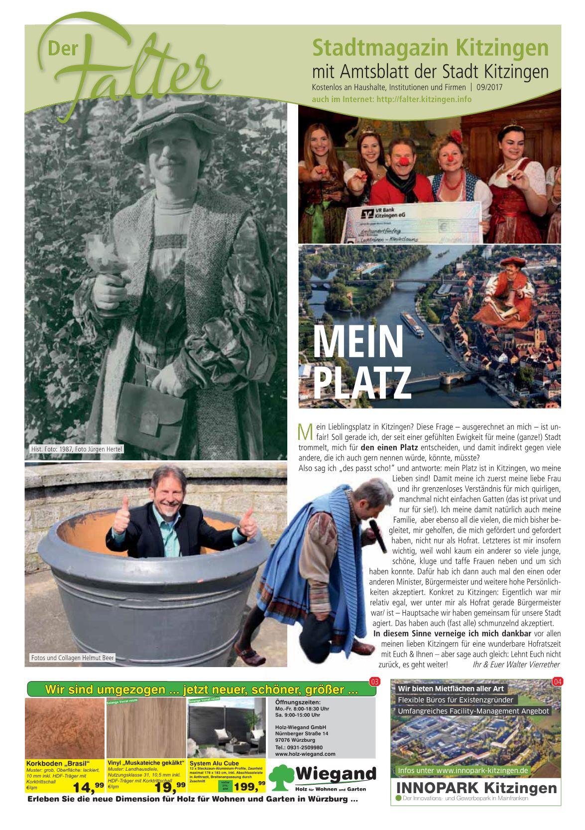 Holz Wiegand Würzburg der falter 09/2017